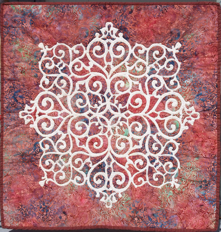 "Barbara's Medallion (30"" x 30""). The pattern that started it all in 2012."