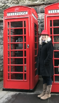 British classic in my new red hat.