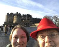Selfie in front of Edinburgh Castle.