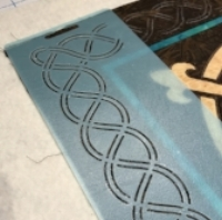 one of the Celtic stencils I used by The Stencil Co.