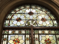 Stained glass window, Leeds Library