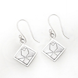 Sterling Silver Tulip Earrings on hook, wire or post.