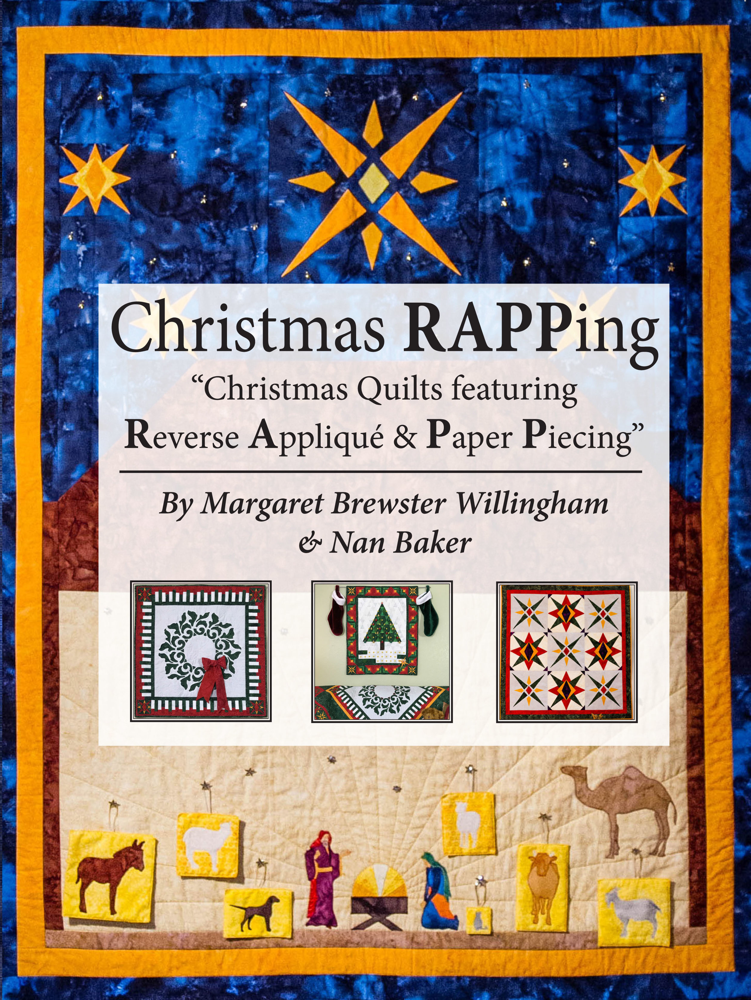 17 + projects to celebrate Christmas for reverse applique by hand or machine and paper-piecing!