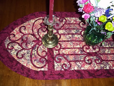 "Karen's Hospitality table runner IV  (20"" x 52"")."
