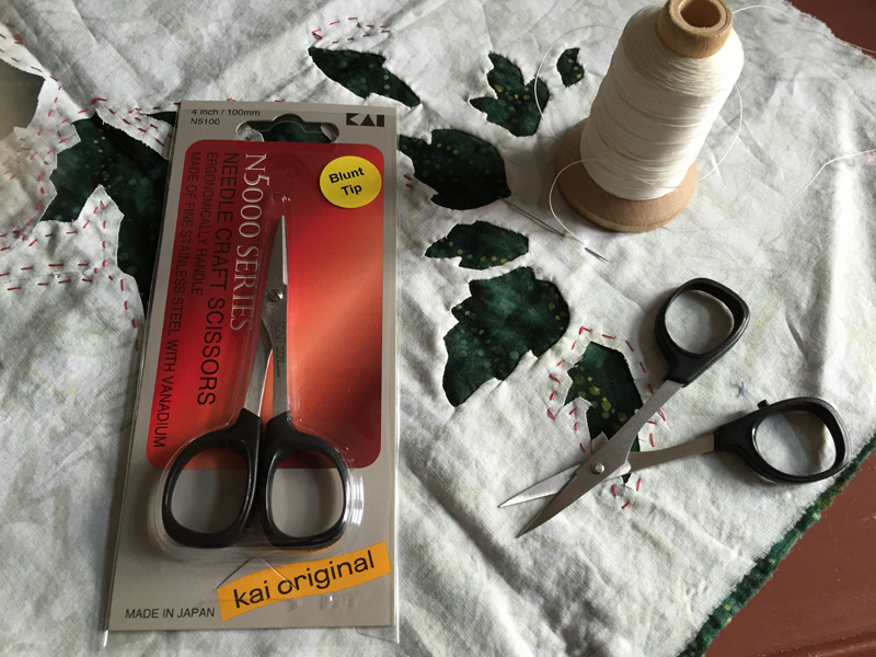 "Kai 4"" straight blade scissors with slightly blunted tips. These are the scissors I use to clip my points & curves. An Eye of the Beholder exclusive."