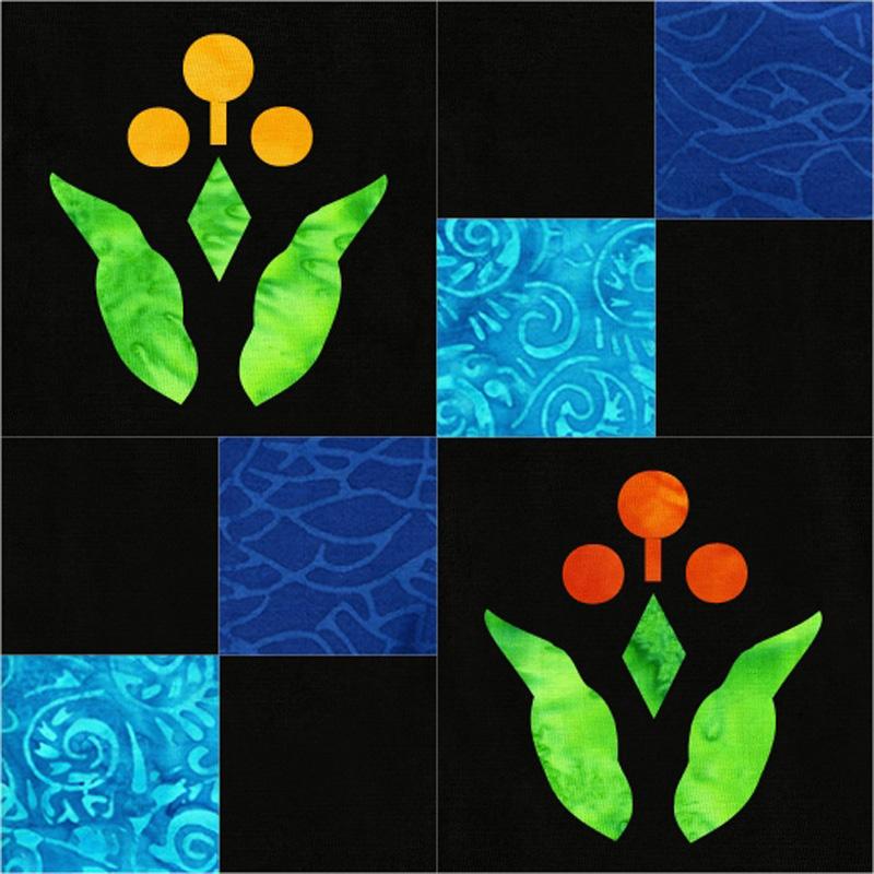 Flower 4-patch block