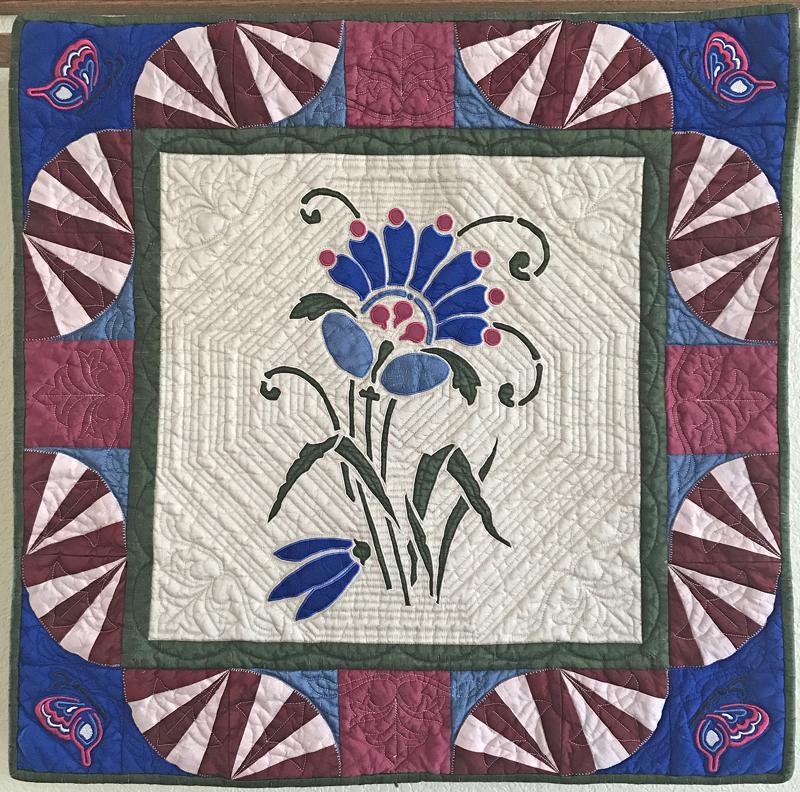 """Amidala's Flower mini-quilt X (28"""" x 28"""")"""