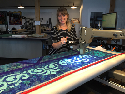 Natalia Majors, the long arm quilting designer for   Fit for a Queen Quilt III.