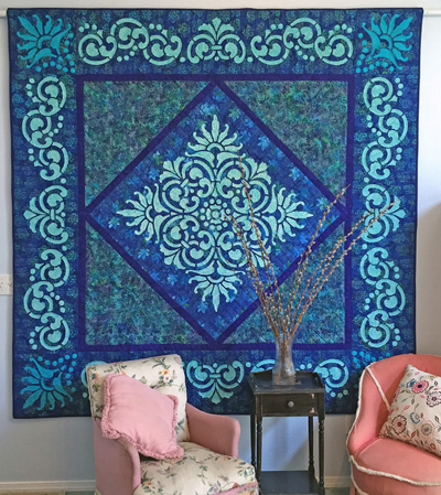 """Fit for a Queen Quilt III   (89"""" x 89""""), overall."""