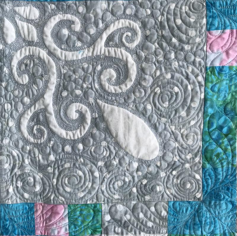 "Spring Breeze, Quilt XII    (98"" x 98""). Fabrics by Batik Textiles."