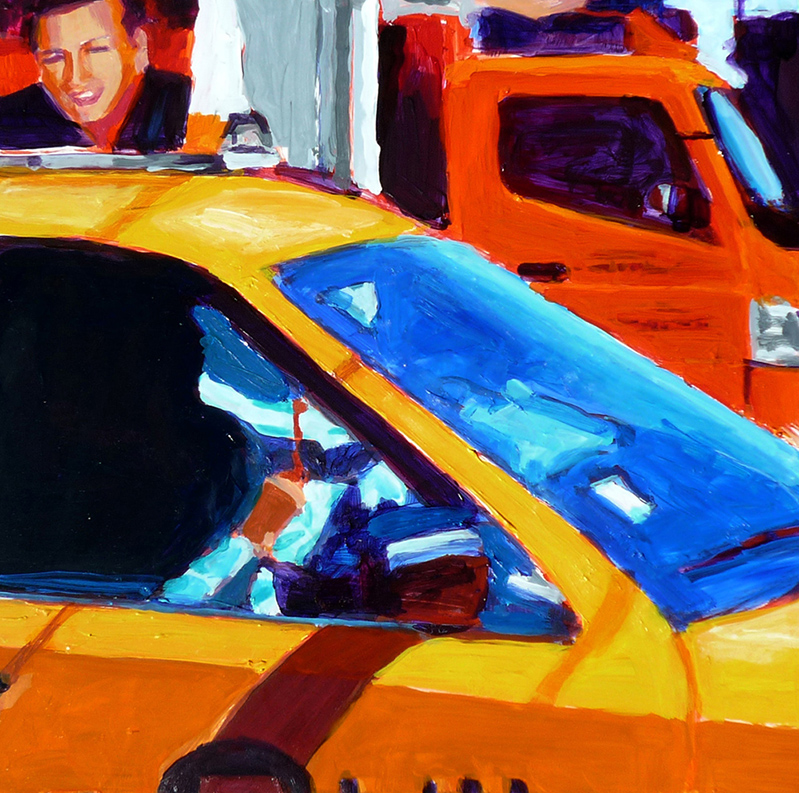 Taxi/truck close-up