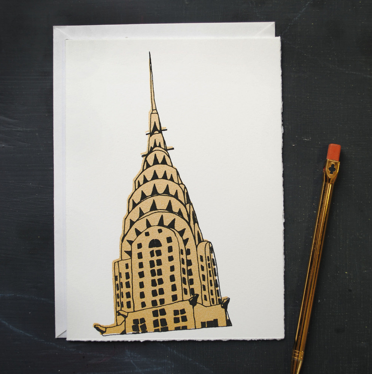 Chrysler Building Note Card  by Frances Lab Studio