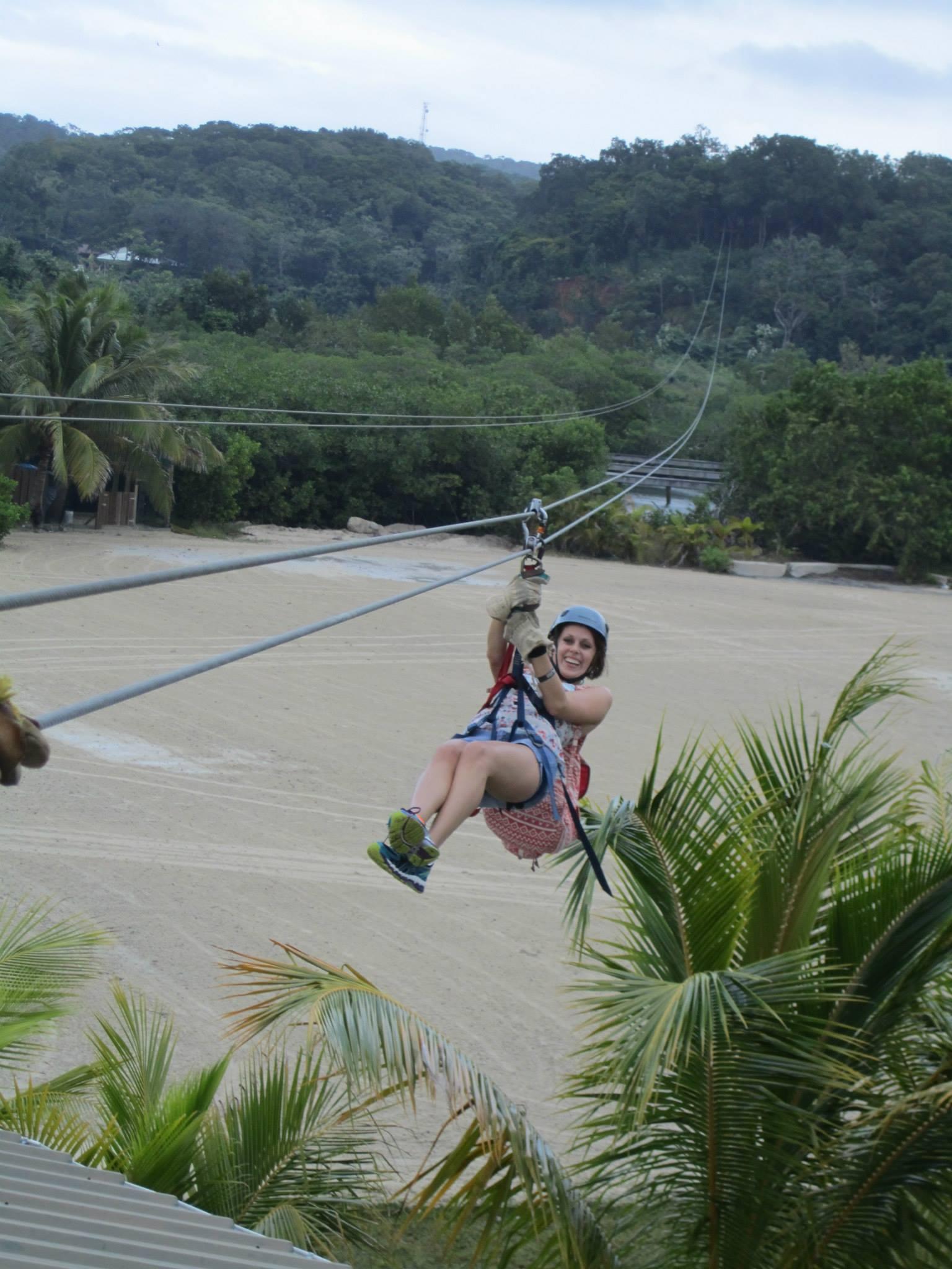 lady on zipline