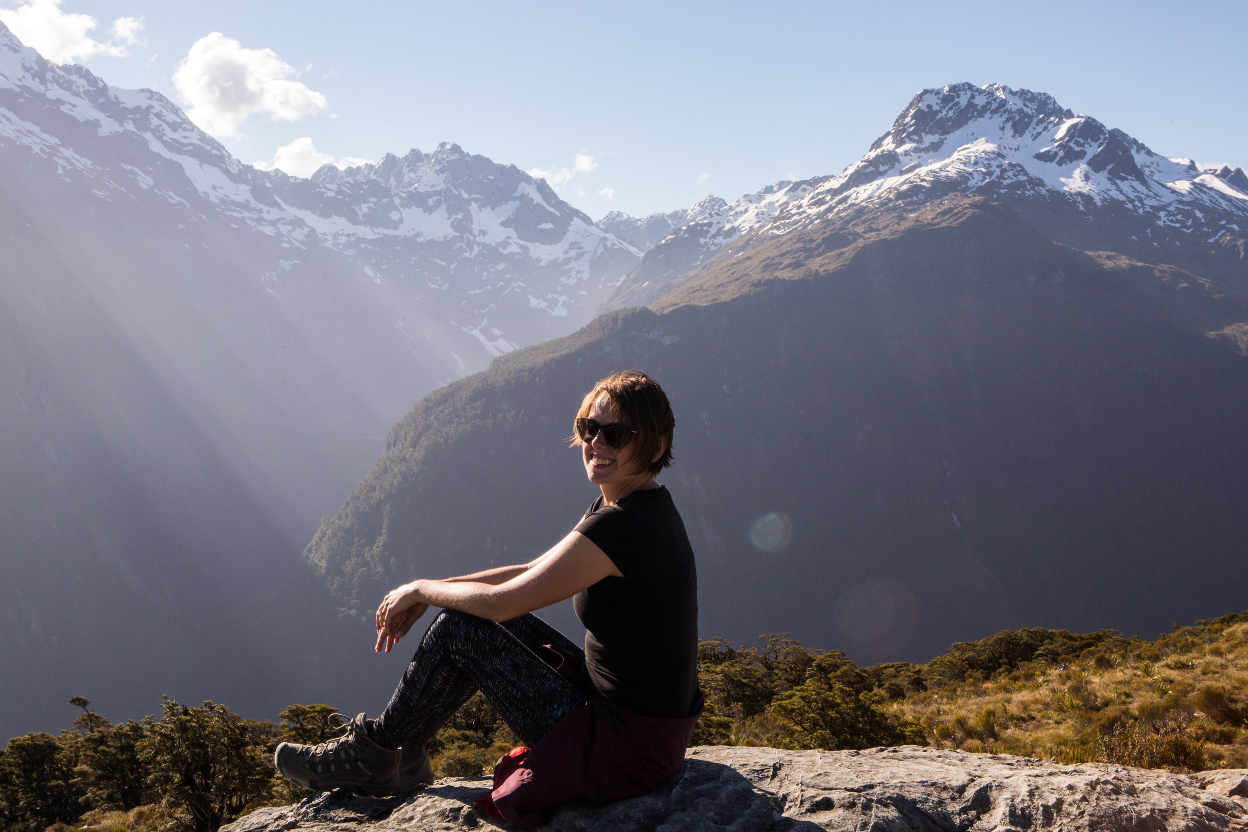 christina on mountain in new zealand