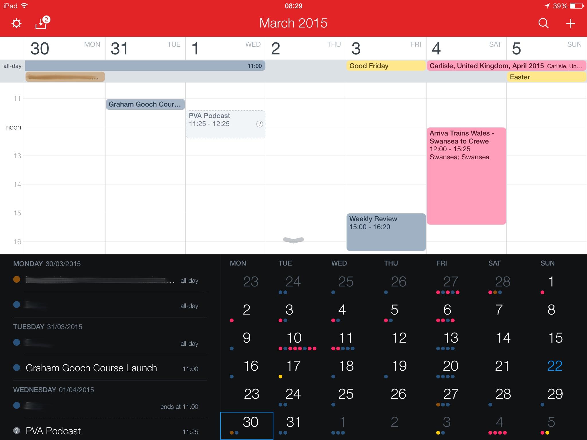 Fantastical on the iPad has awesome calendar entry magic