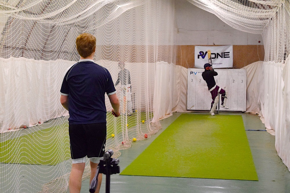 Bowling focus nets, tracking line and length on PitchVision.