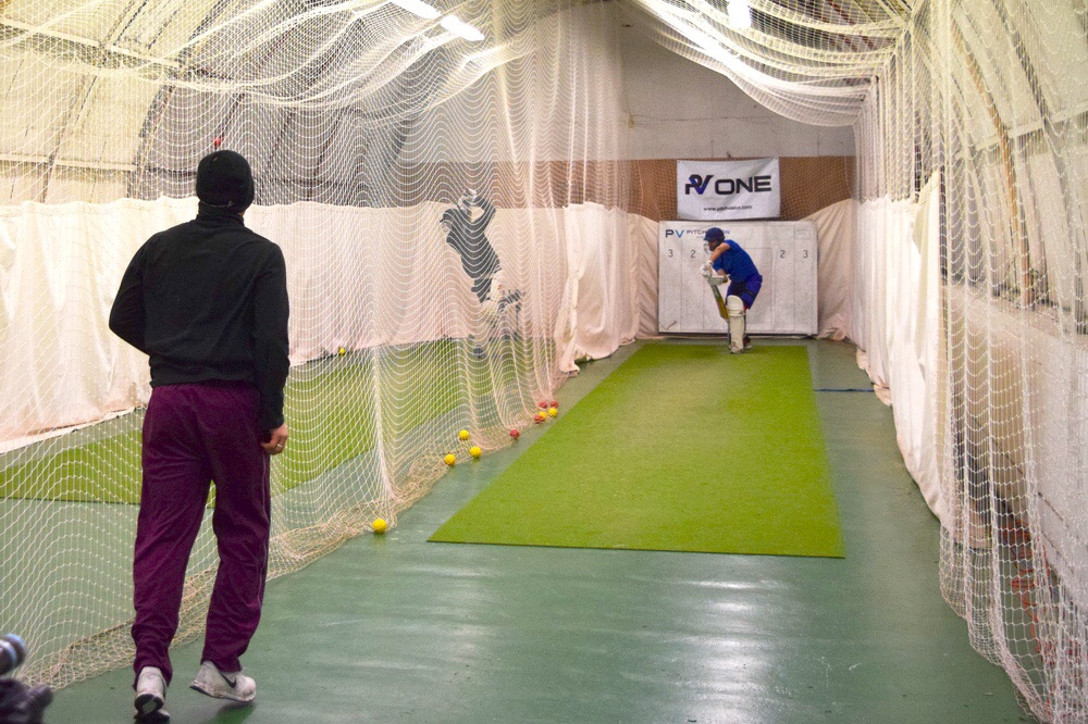West of Scotland Cricket Club bowlers practice different match scenarios in nets