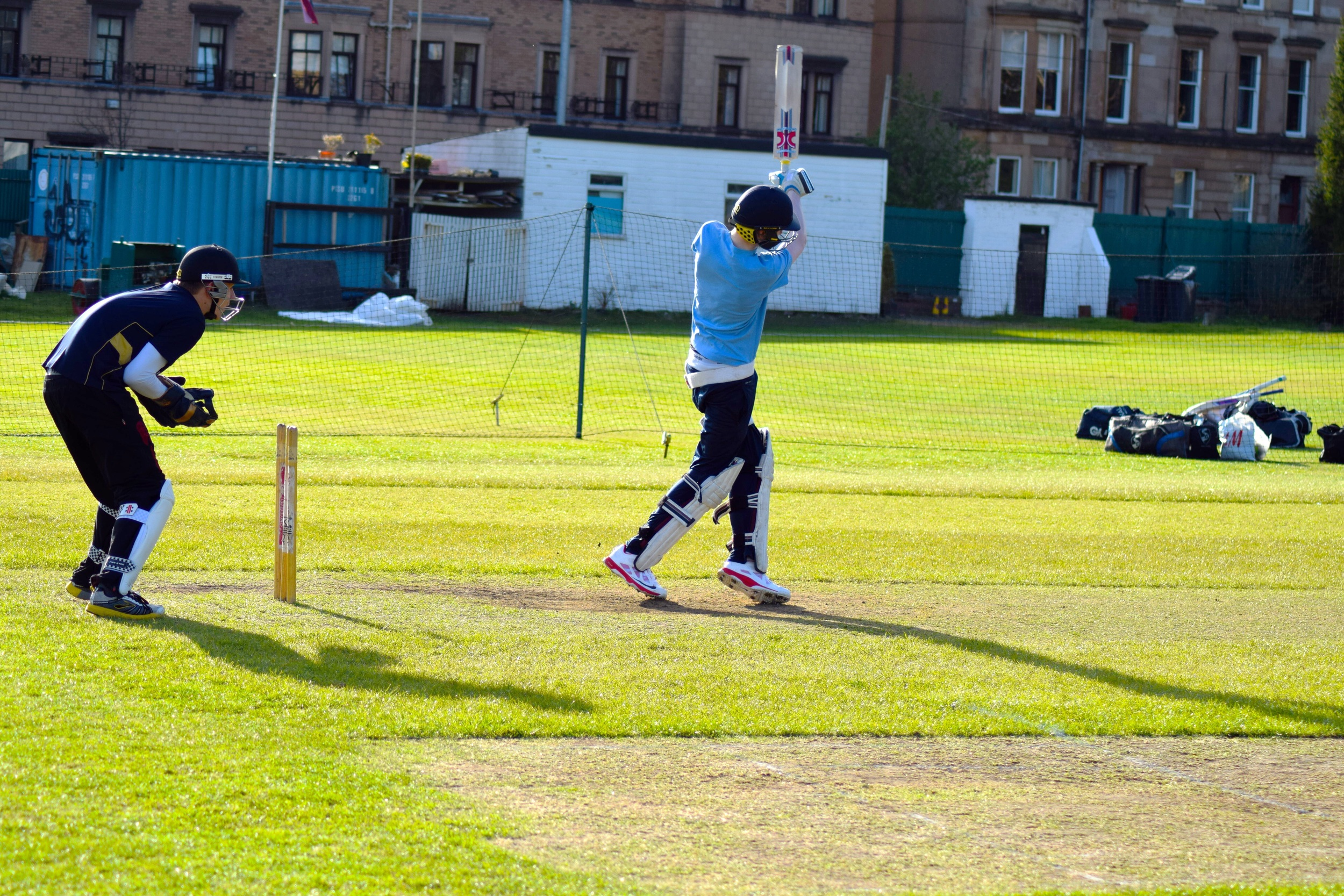 Middle wicket practice at West of Scotland Cricket Club