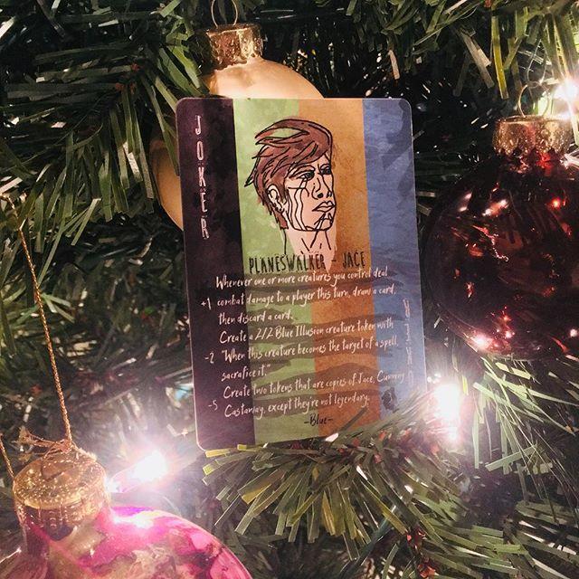 #Jace is ready for Christmas. What about you? Kickstarter coming soon. #ixalan #mtg #magictokens #magicthegathering #mtgtokens