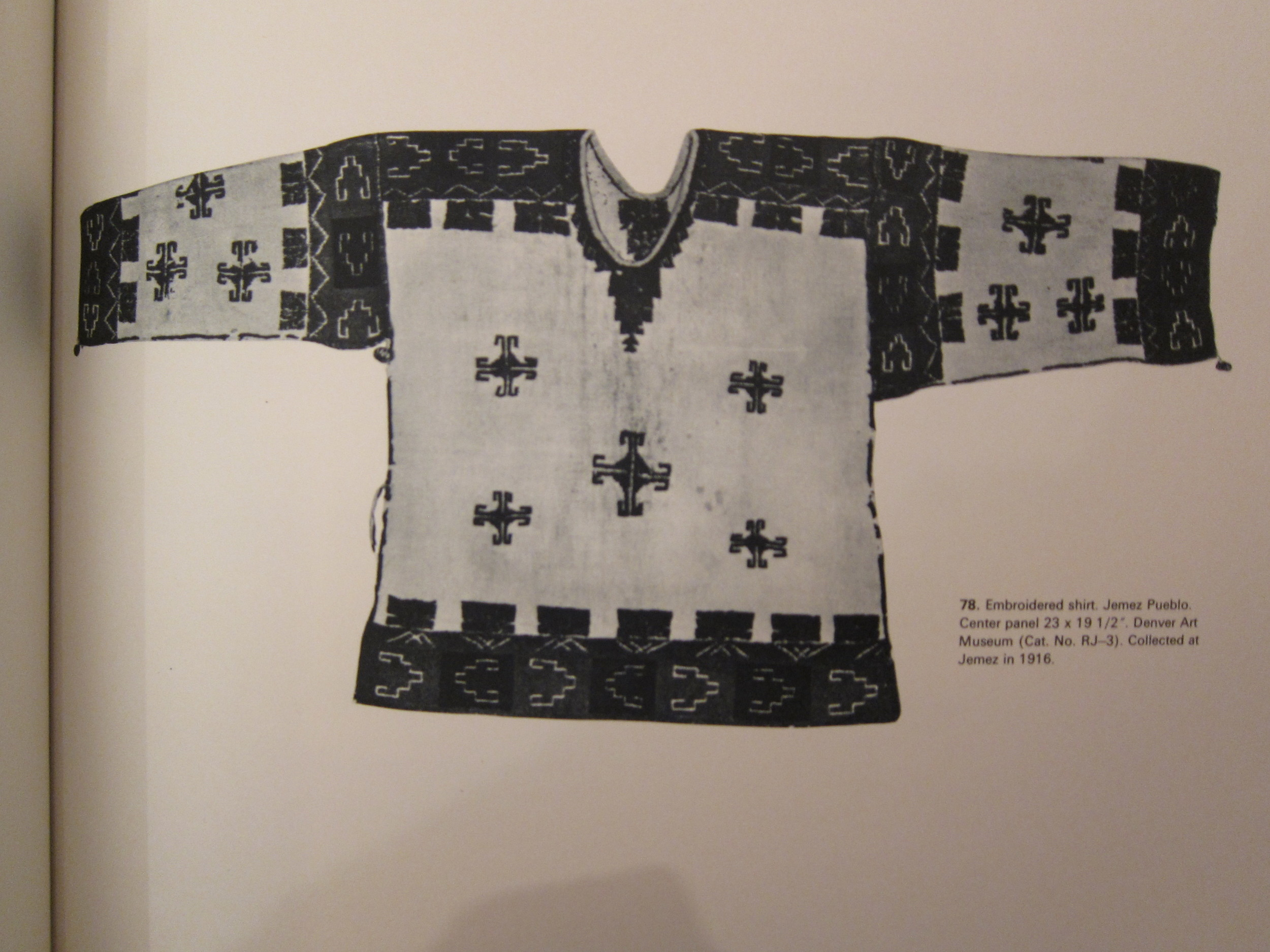 native american deer hide binary design with embroidery