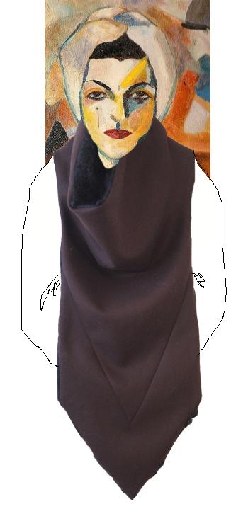 Saloua Raouda Choucair Self Portrait wearing a Crux