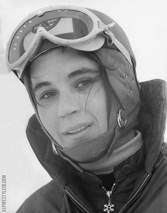 Ski racer Barbi Henneberger in Bogner, from a post onAlpine Style 56