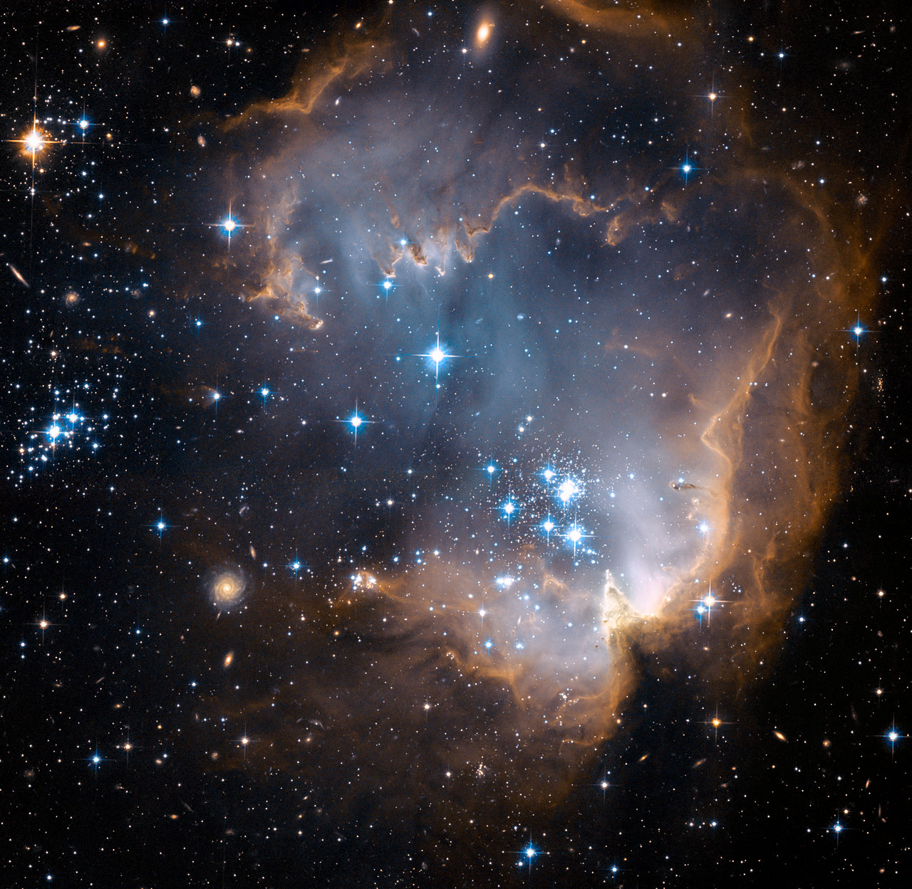 N90 region new stars, Hubble