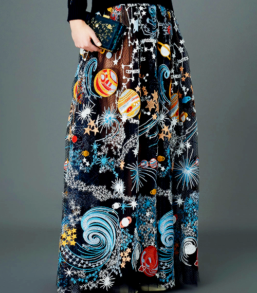 Valentino Pre-Fall 2015 - The motifs, which are the real force behind the collection of simple, elegant silhouettes,were designed by British textile designer Celia Birtwell,as well as the Italian Pop Artist Giosetta Fioroni.