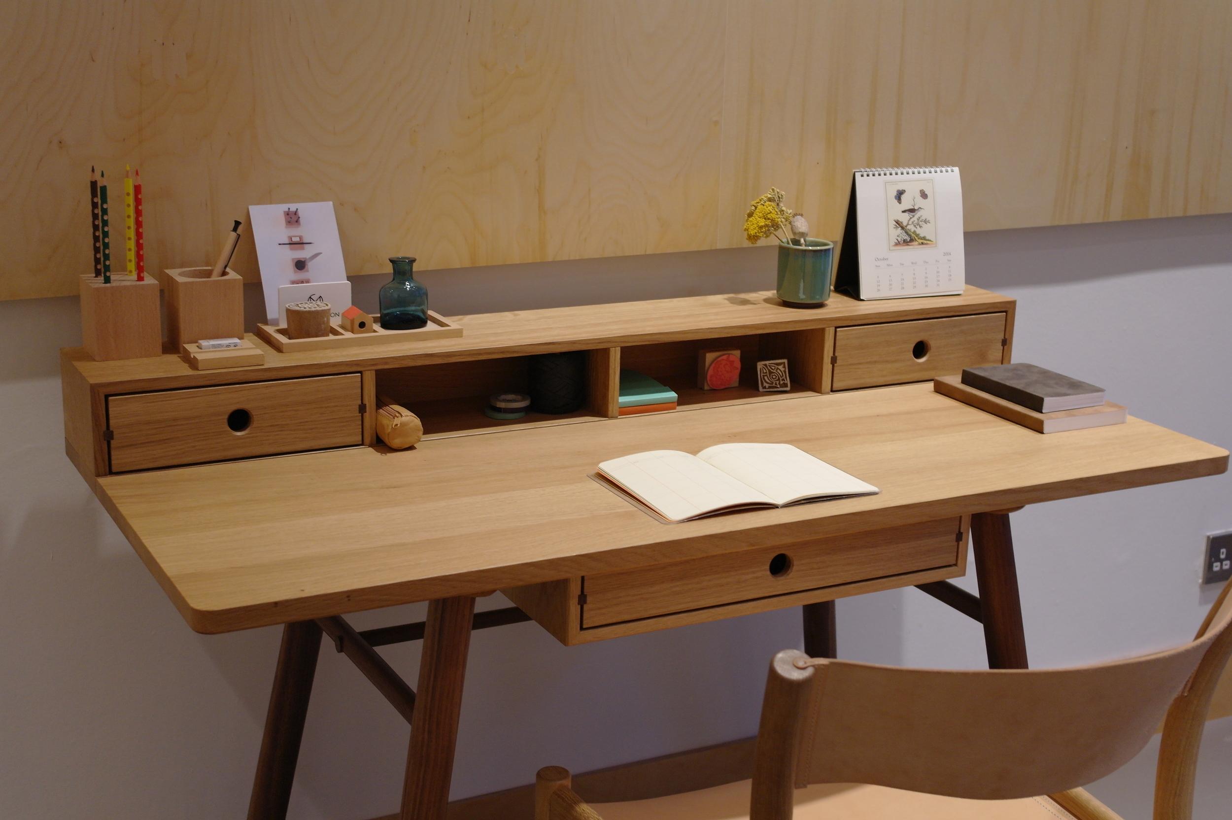 Hand crafted desk designed by furniture maker Namon Gaston