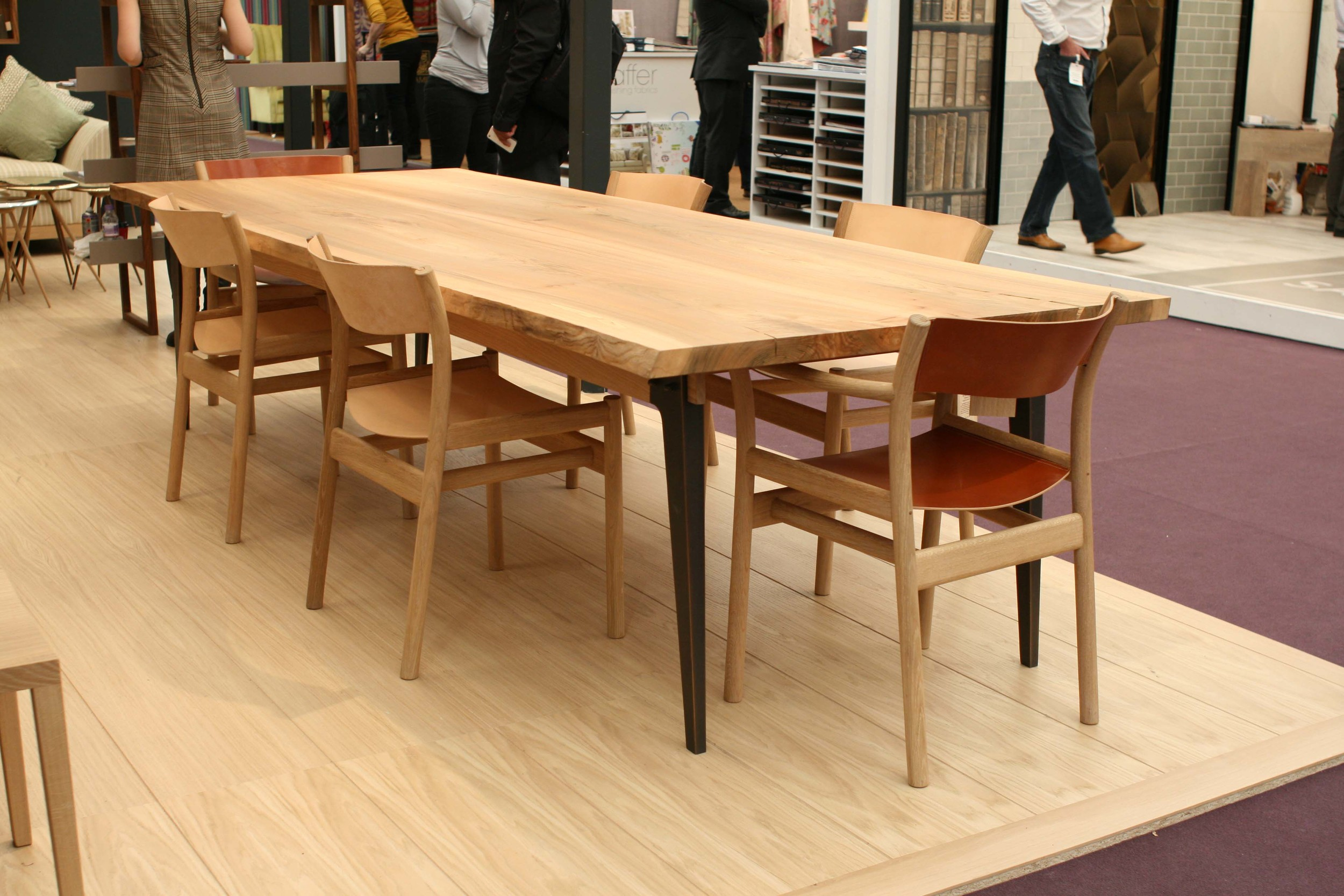 Oxbow chairs displayed at furniture design exhibition