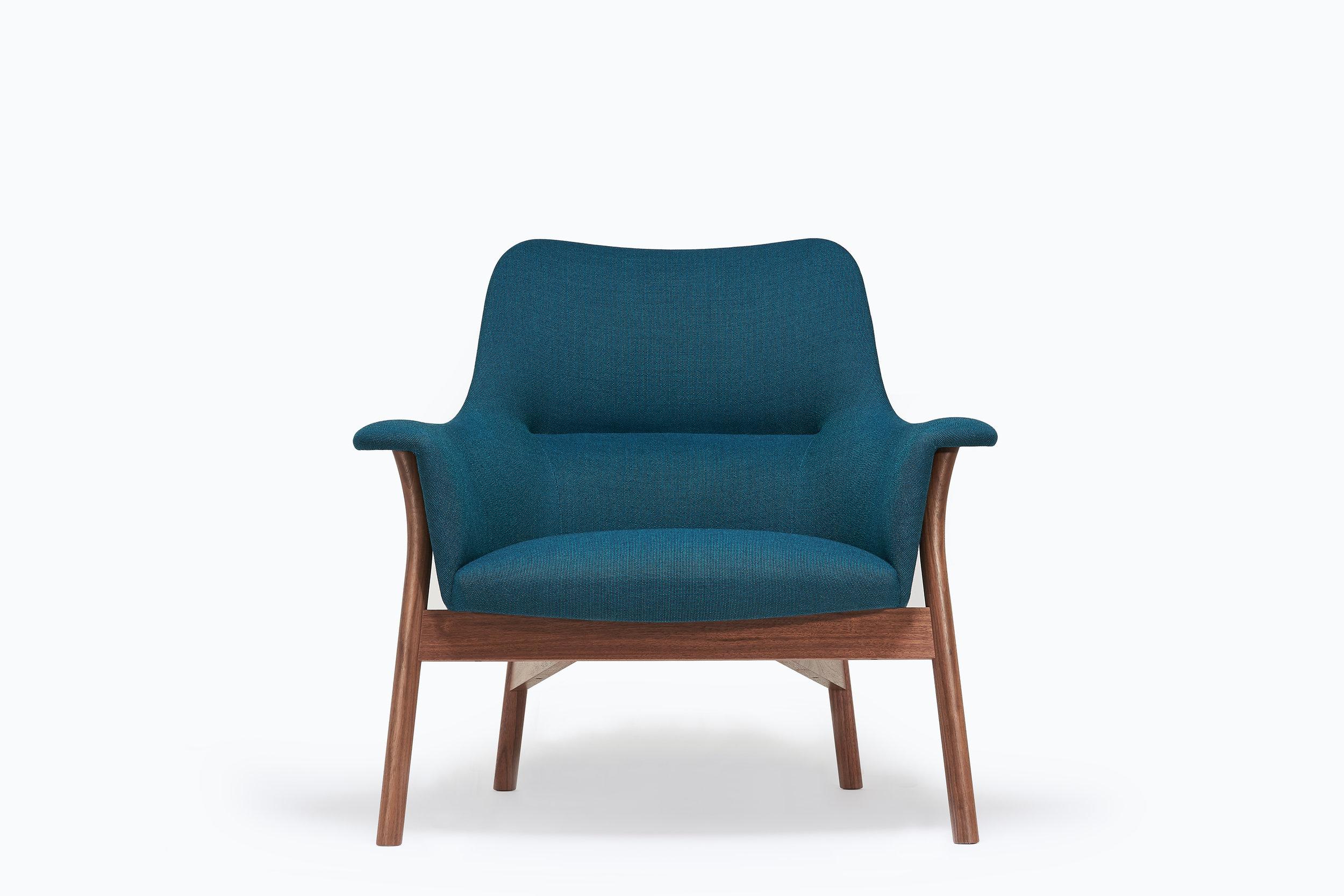 Walnut Oxbow Lounge Chair