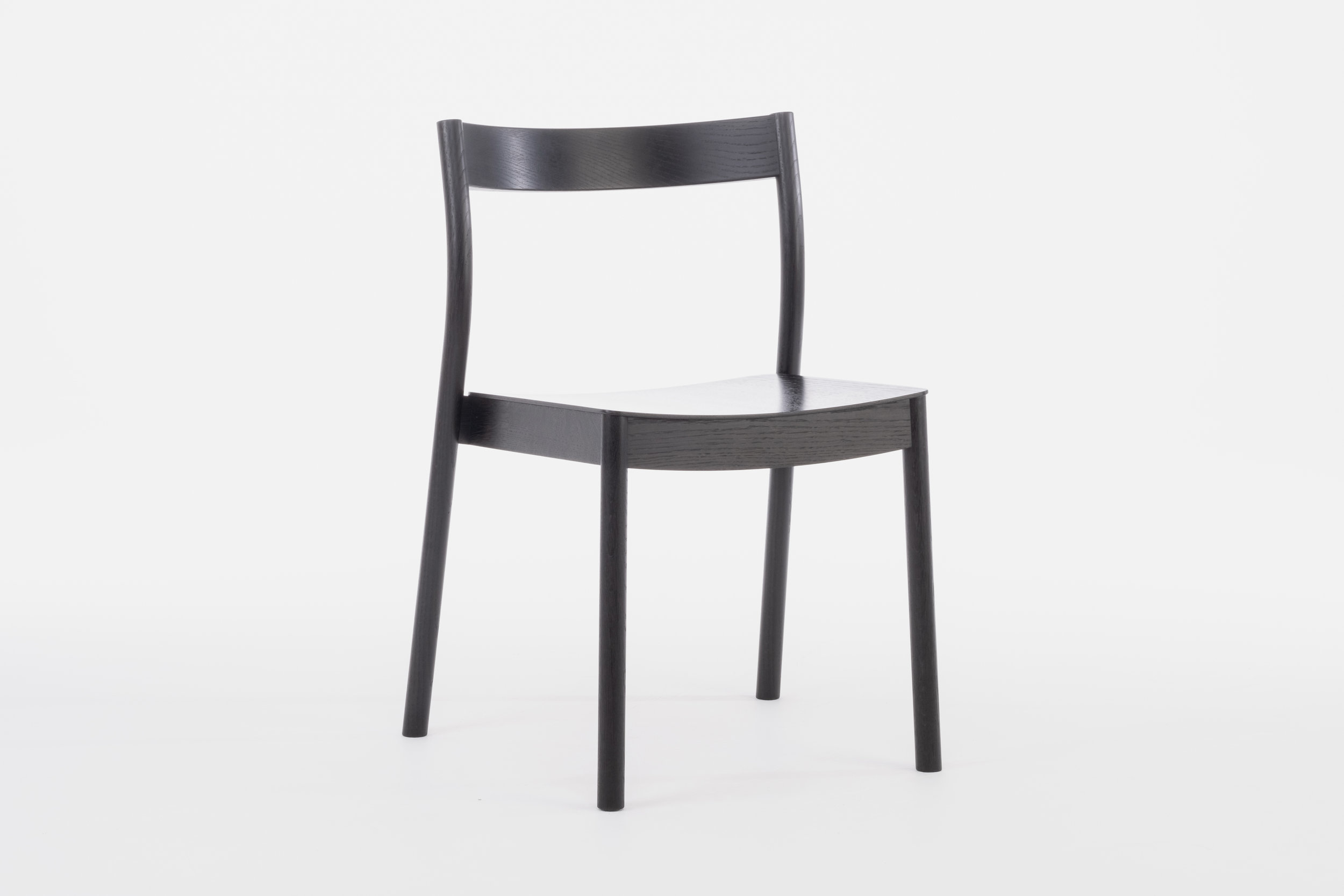 Alma Black Stacking contract chair