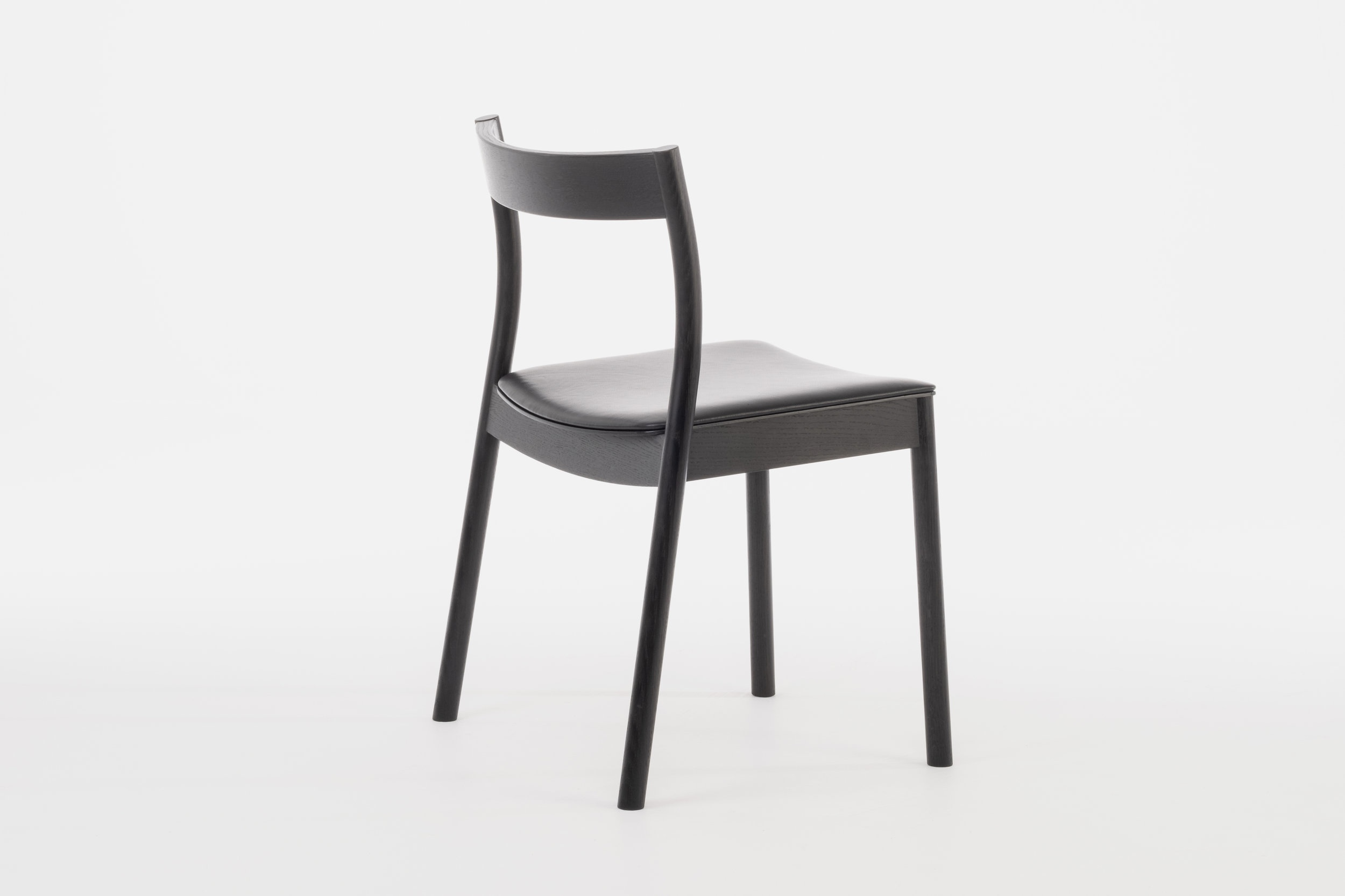 Black Alma Stacking chair