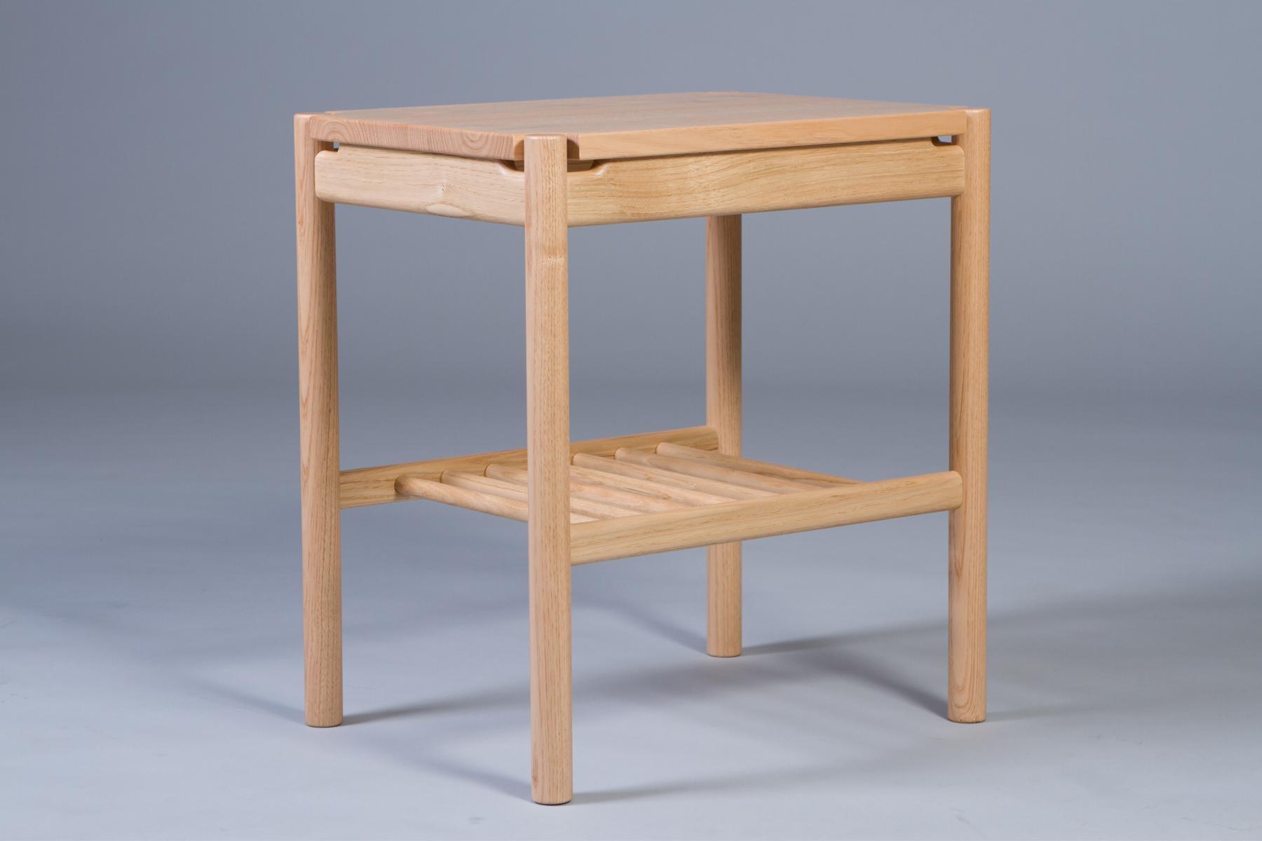 English sweet chestnut handmade bedside tables