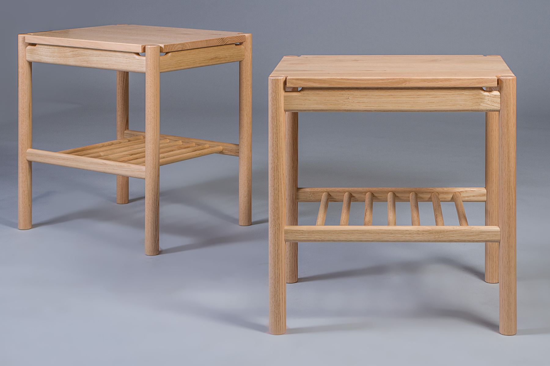 Bedside night stands handmade in English sweet chestnut