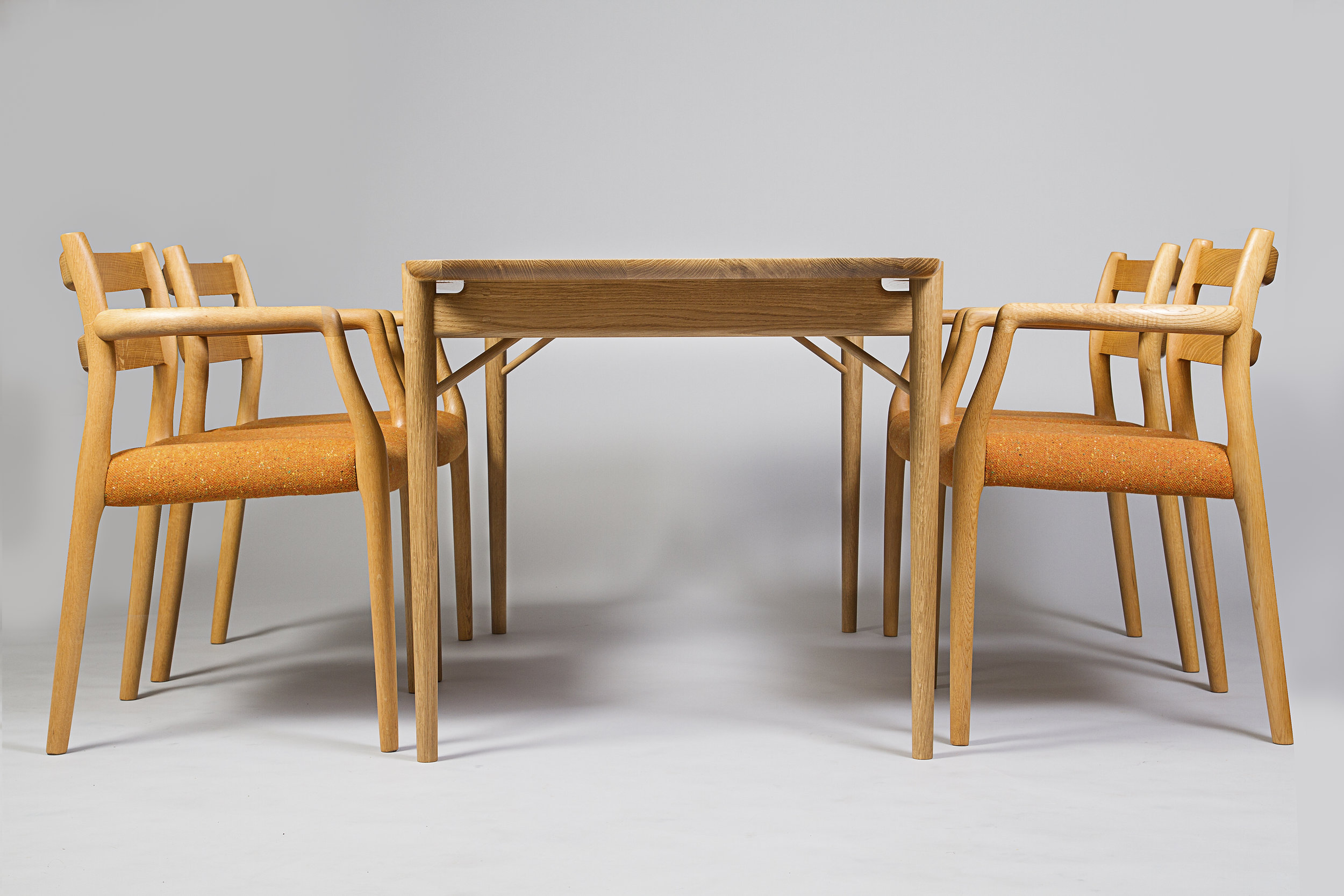 bespoke Danish style handmade dining table