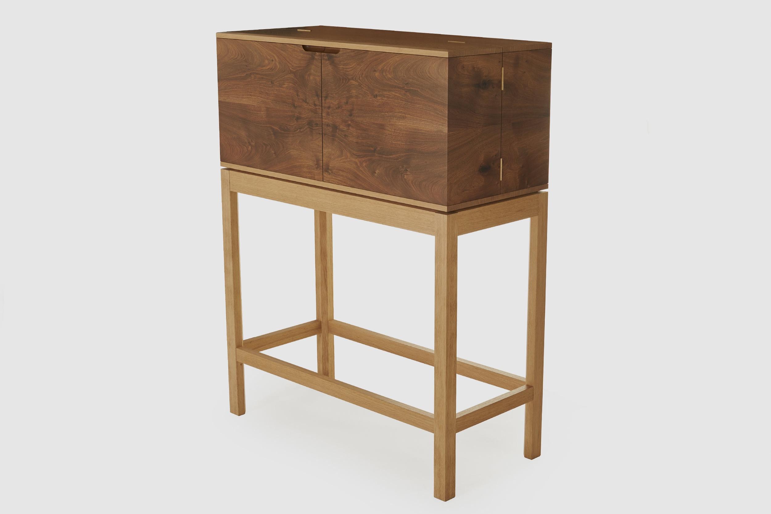 Scottish oak bar cabinet