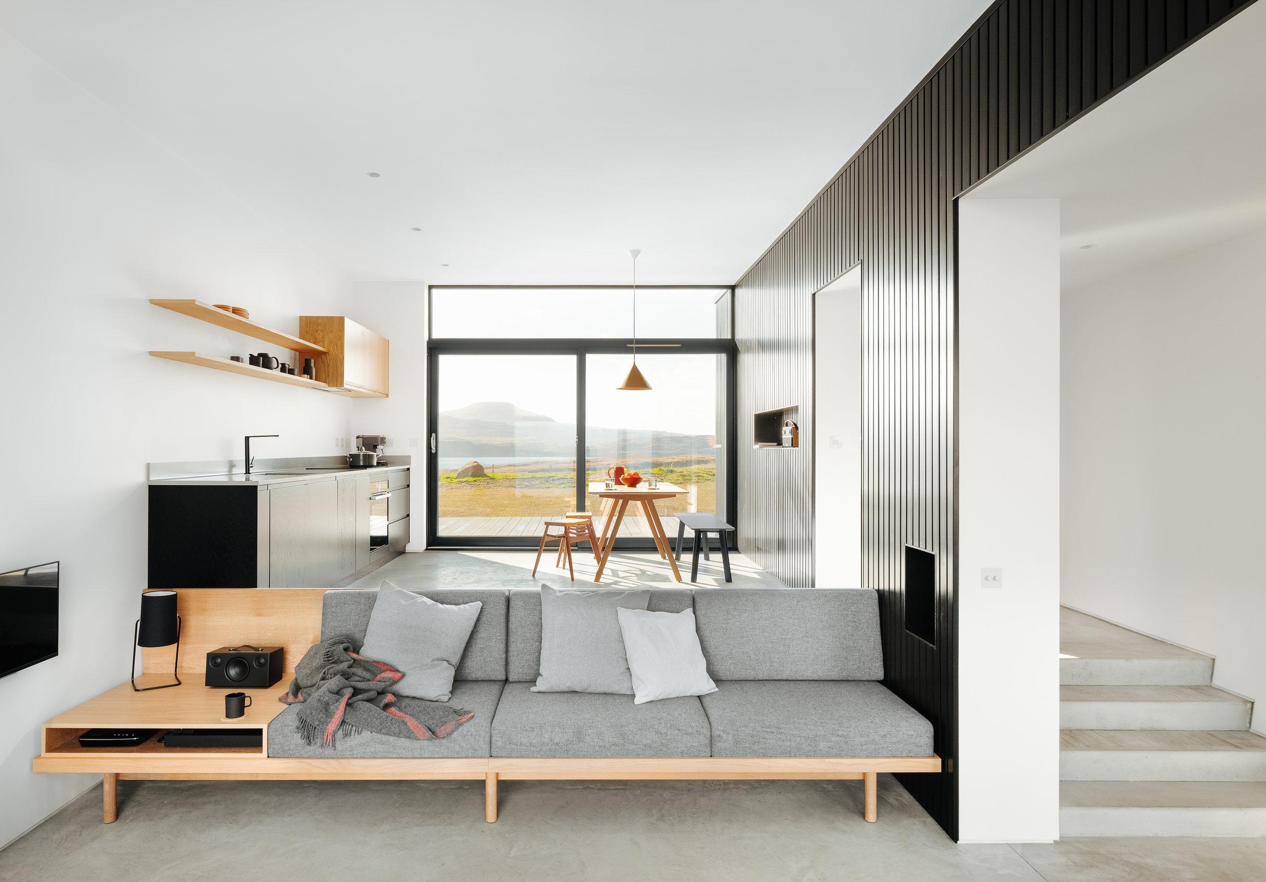 black h sofa interior design