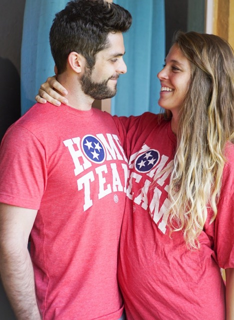 "THOMAS RHETT & LAUREN AKINS wearing the ""Home Team"" Tee (disc.)"