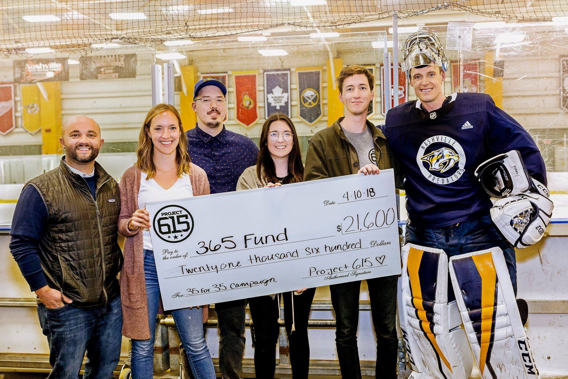 Over $21,000 was raised to go towards Pediatric Cancer research. Special thanks to Nashville Preds player, Pekka Rinne, for getting behind this cause with the 365 Fund!