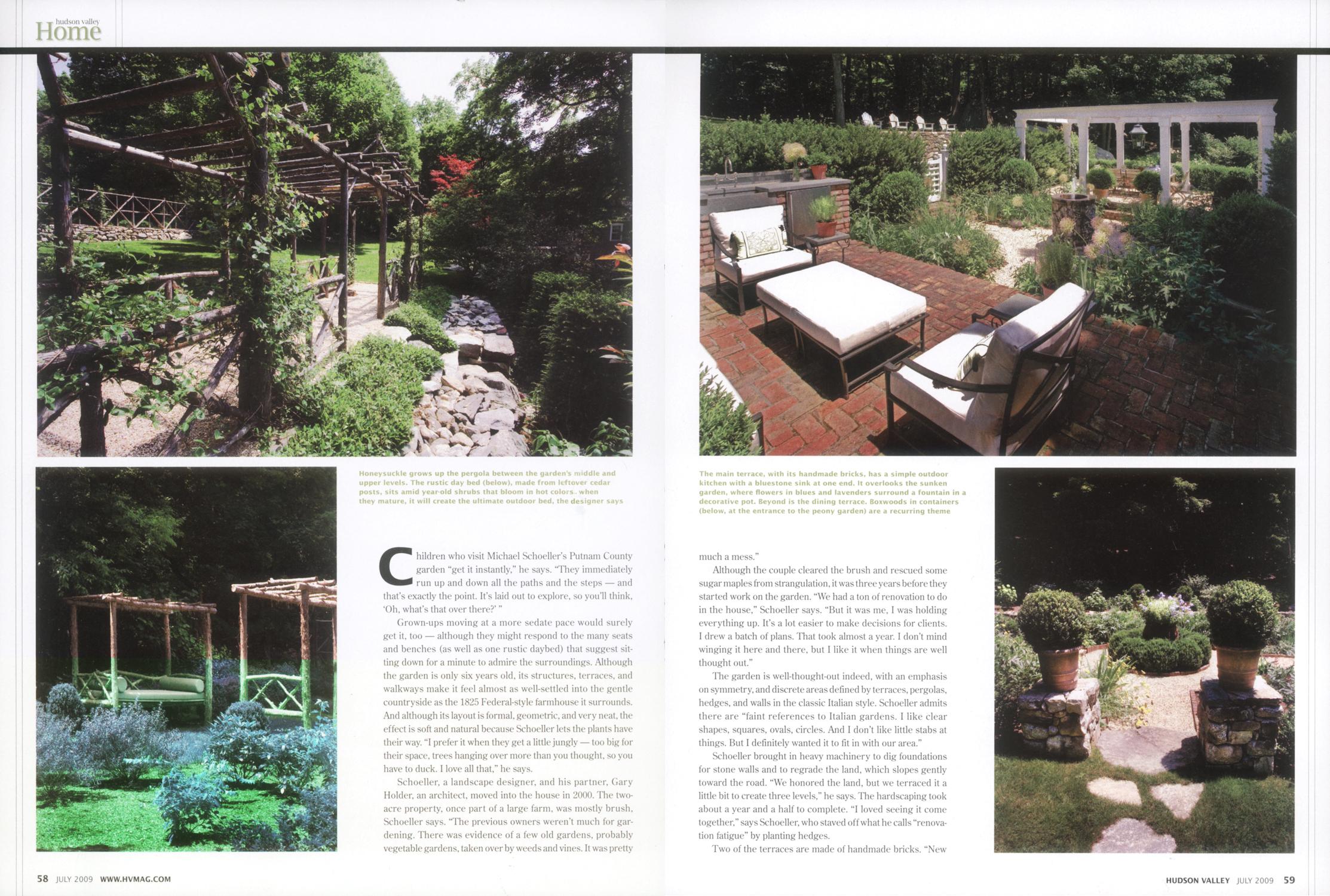 Landscape design by Michael Schoeller.