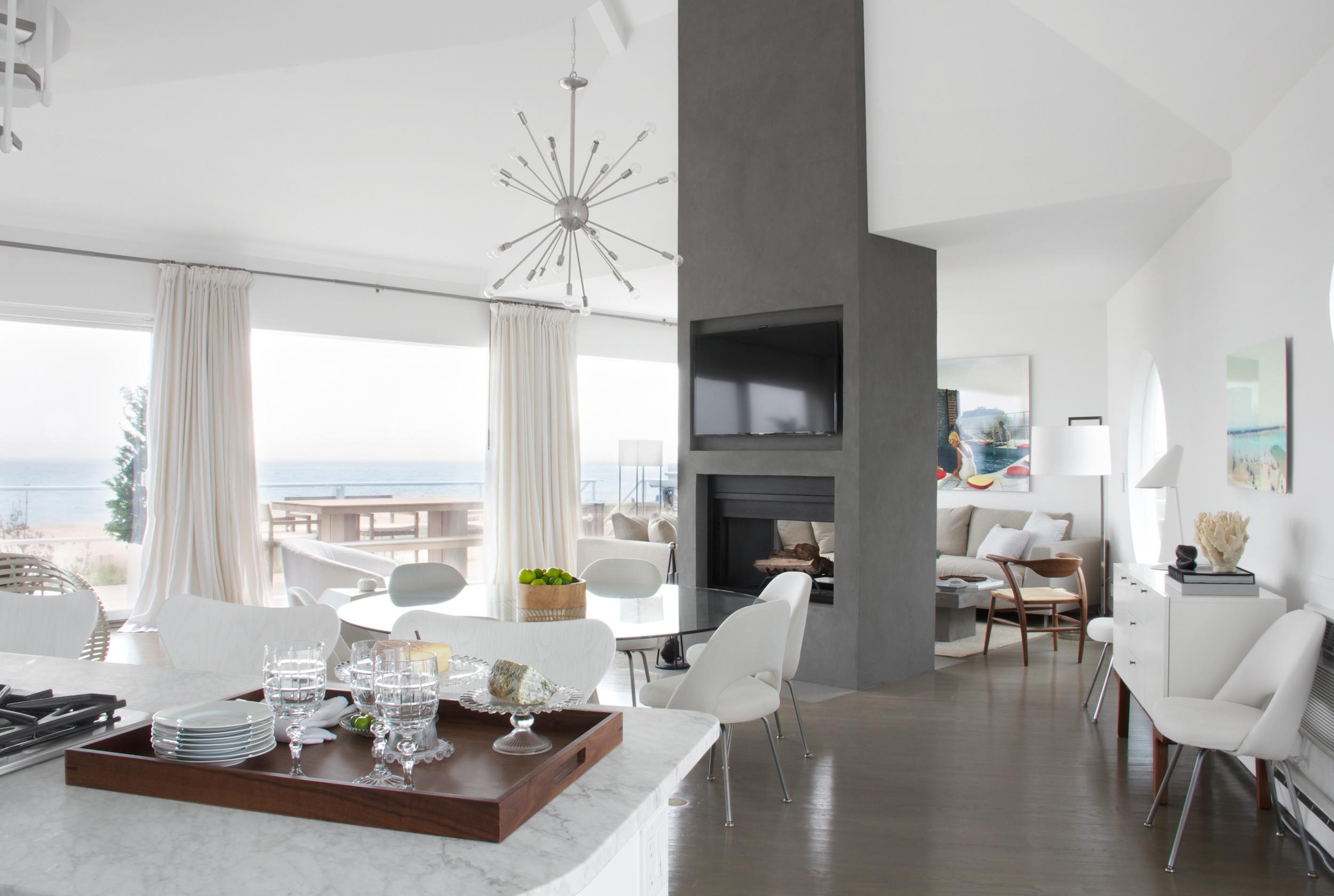 Schoeller + Darling Design - Amagansett Beach House - Living Area