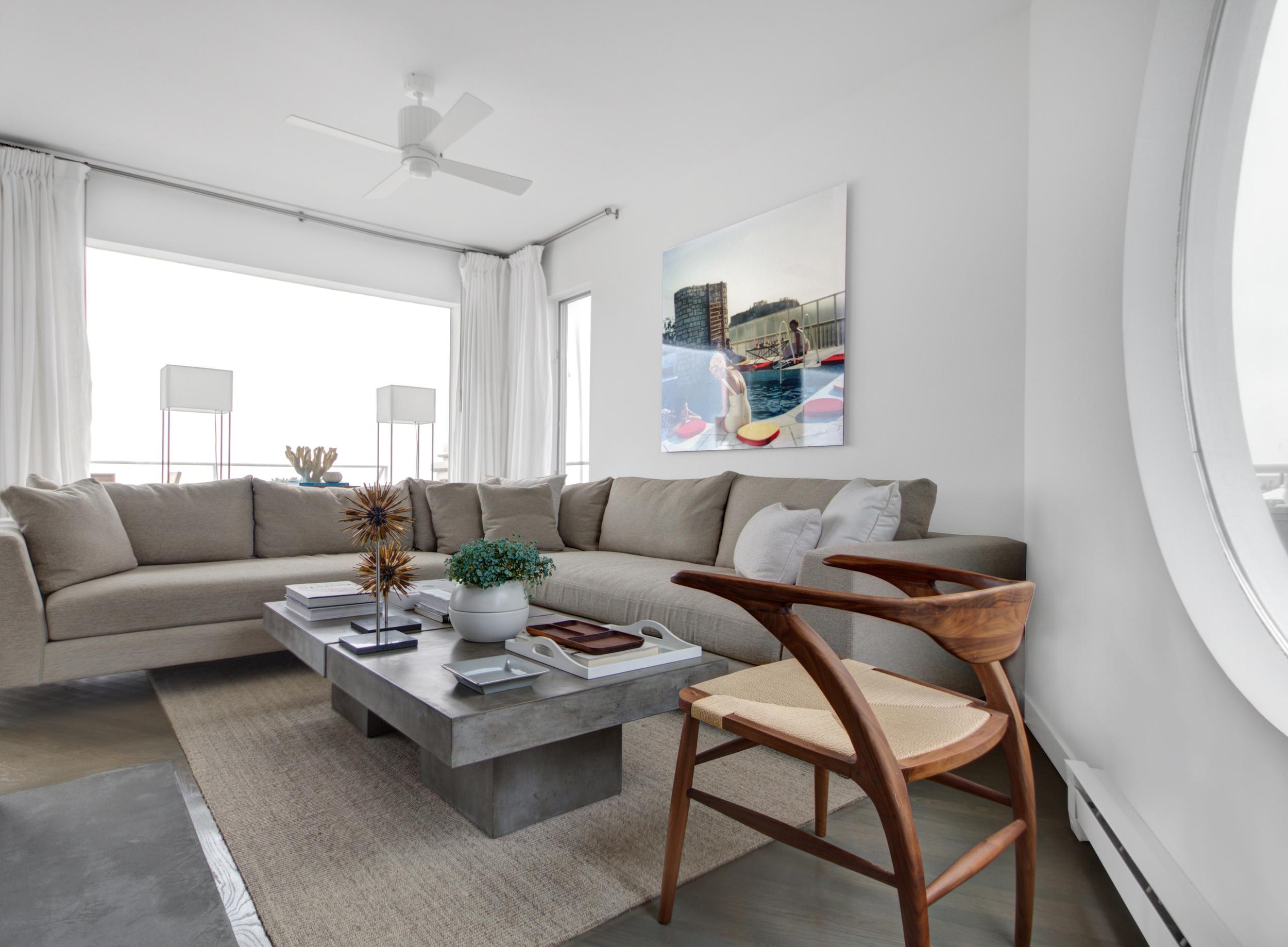 Schoeller + Darling Design - Amagansett Beach House - Living Room Lounge