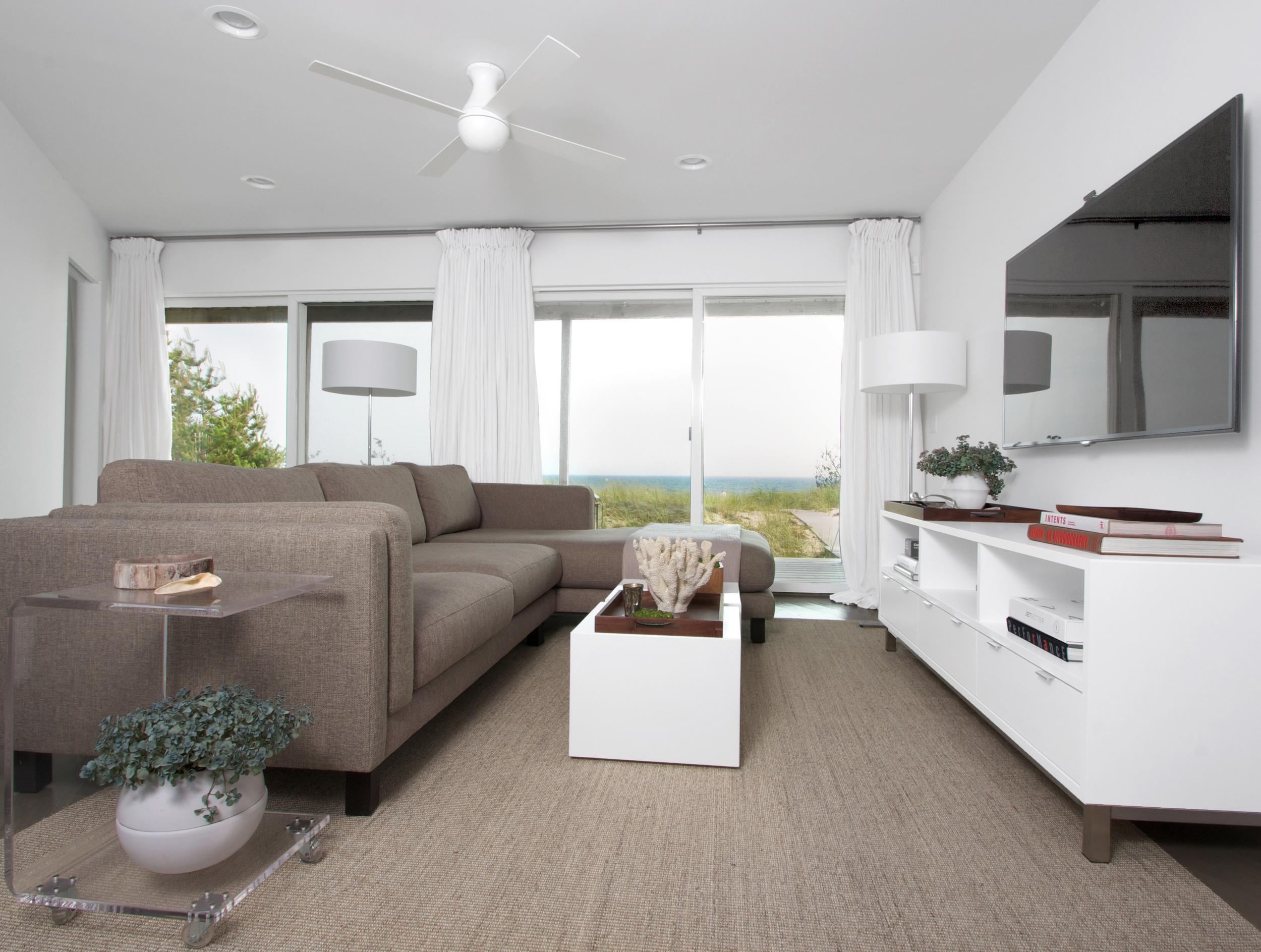 Schoeller + Darling Design - Amagansett Beach House - Lower Lounge