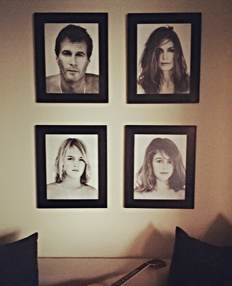 Cindy Crawford Family Portrait Wall