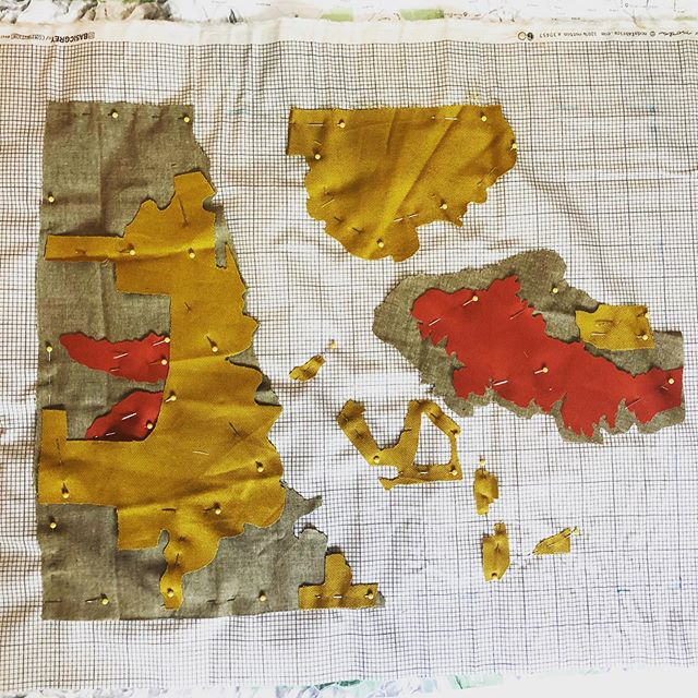 Topo map coming together. #whereisit? #quilting #embroidery #machineembroiderydesigns #topography #madebymadsdesigns
