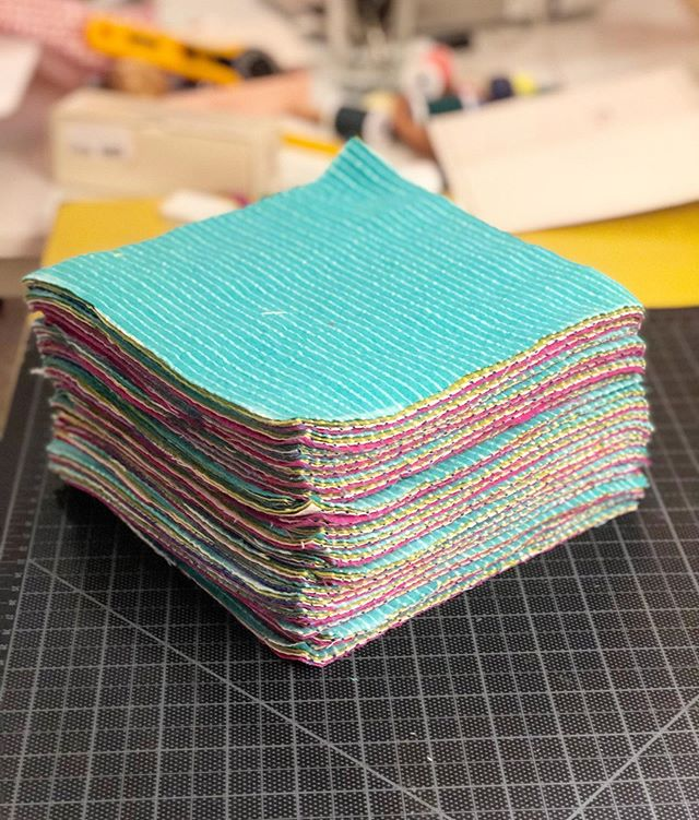 Reusable napkins in the making! 🤩 #madebymadsdesigns #reusablenapkins #100percentcotton Have to finish them before the @horseshoemarket show on October 5-6th! 😂 2nd pic for more details about the show!