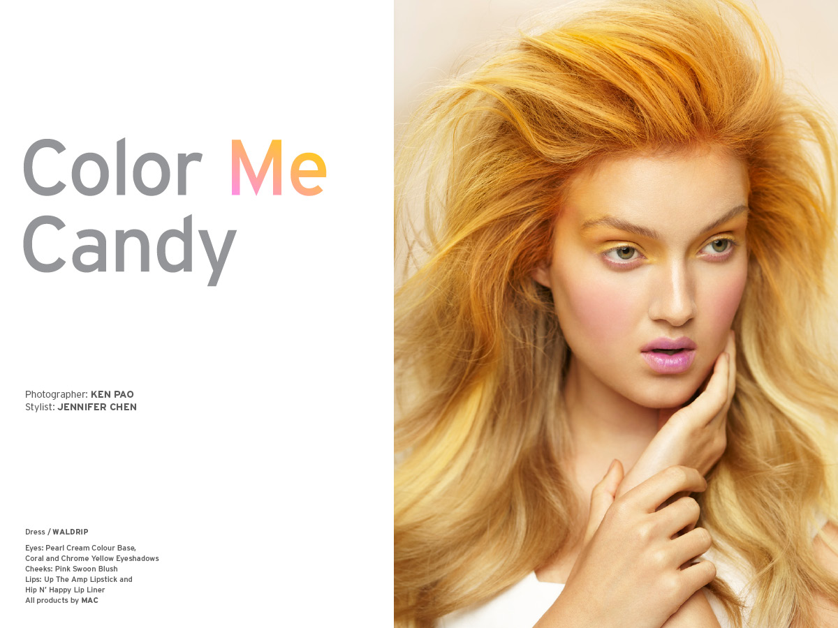 POPCYCLE MAGAZINE NO.2 / BEAUTY RETOUCHING / COLOR ME CANDY / PHOTO KEN PAO