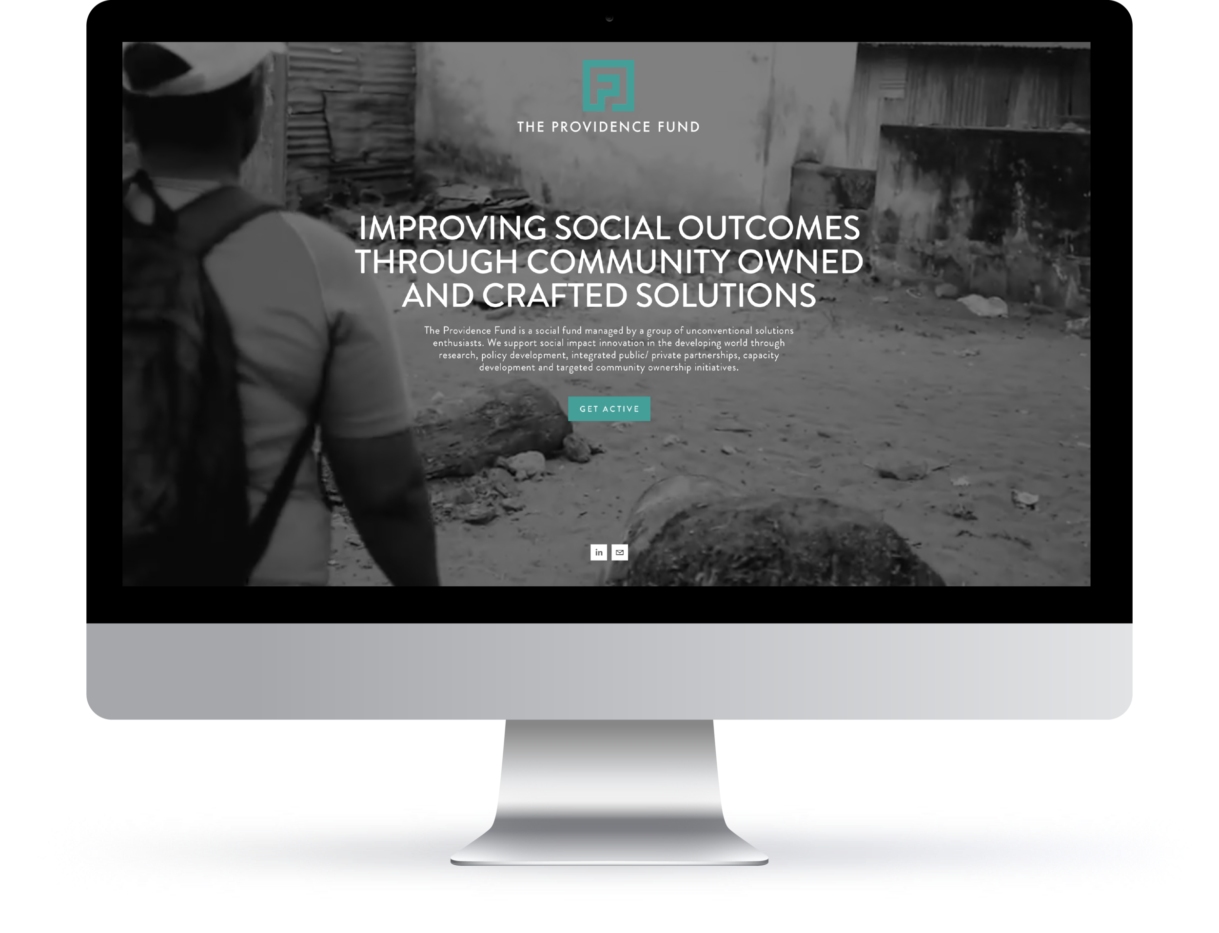 web | branding for the providence fund liberia
