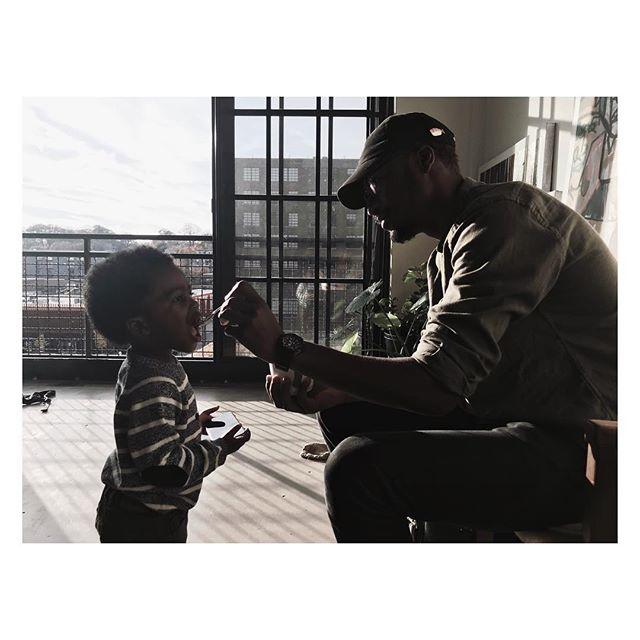 | FATHER & SON | #love #guidance #design #man #loves #feeding #food @v__rc #poncecitymarket #atl #atlanta #father #son #family #growth #window #flat #window #loft #blackfathers